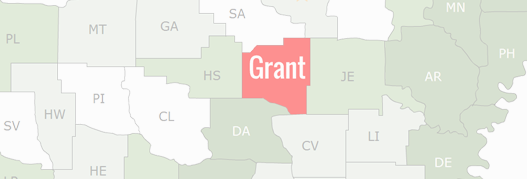 Grant County Map